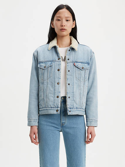 Ex-Boyfriend Stretch Sherpa Trucker Jacket