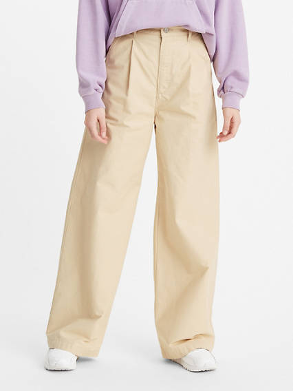 Pleated High Loose Pants