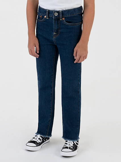 High Rise Straight Fit Big Girls Jeans 7-16