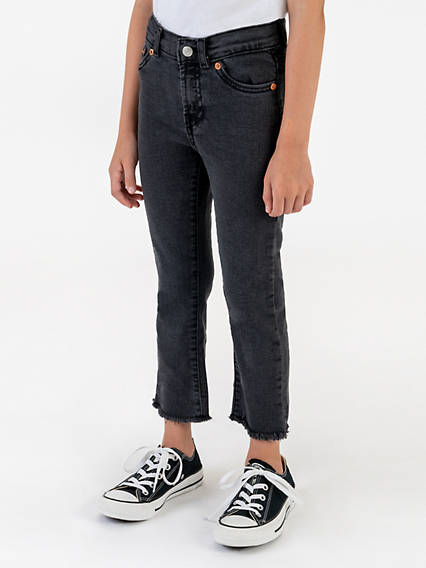 High Rise Ankle Straight Little Girls Jeans 4-6x