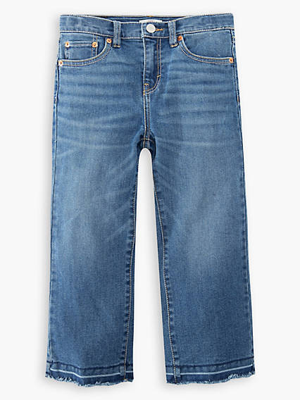 Cropped Wide Leg Big Girls Jeans 7-16