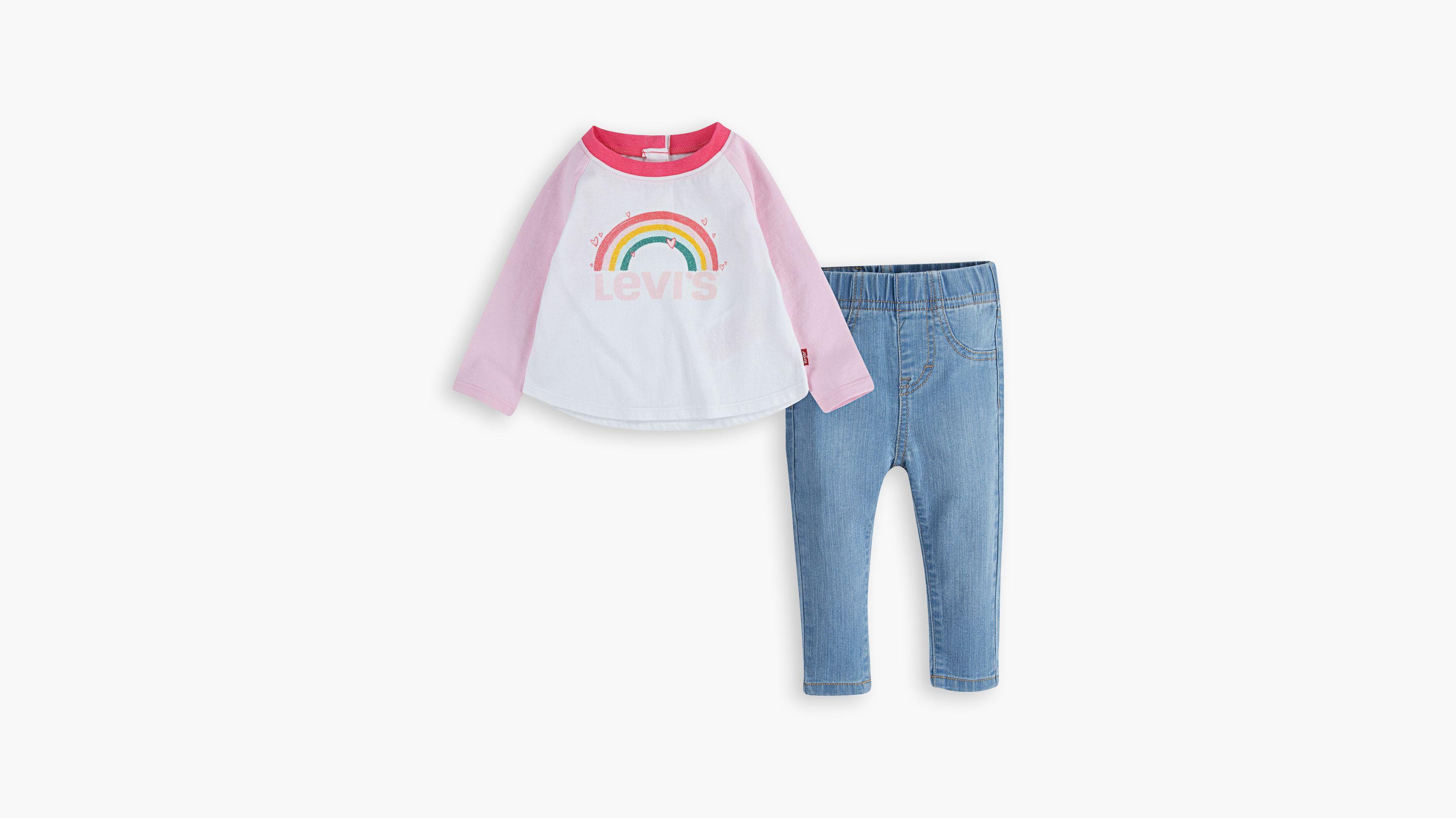 Levis Baby 12m-24m Colorblocked Raglan Set