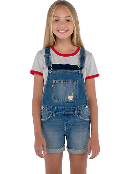 Big Girls 7-16 Denim Shortalls