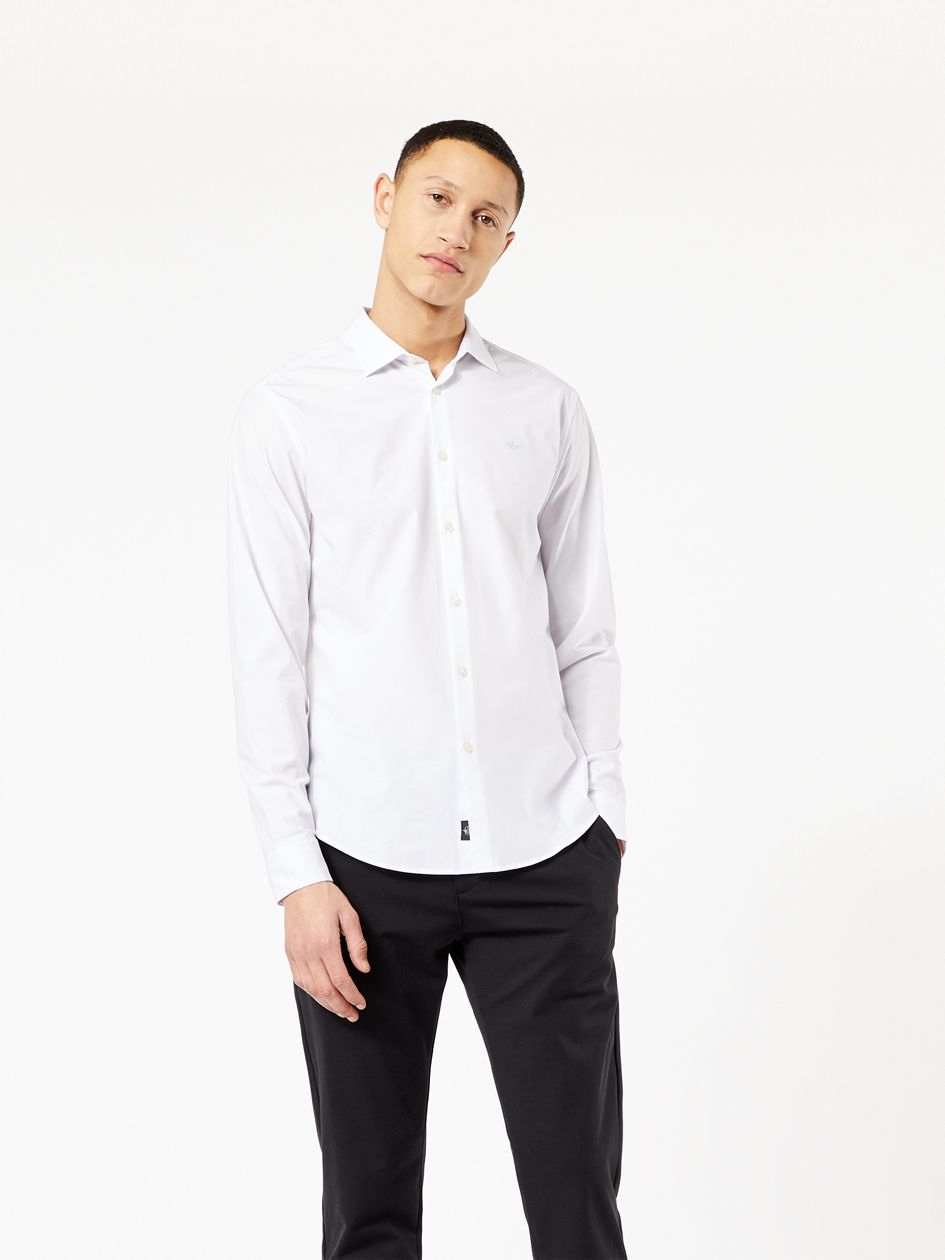 Alpha Button-up Shirt, Slim Fit - White 373790019 | Dockers® US
