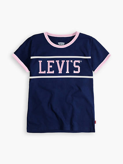 Big Girls S-XL Levi's® Ringer Tee Shirt