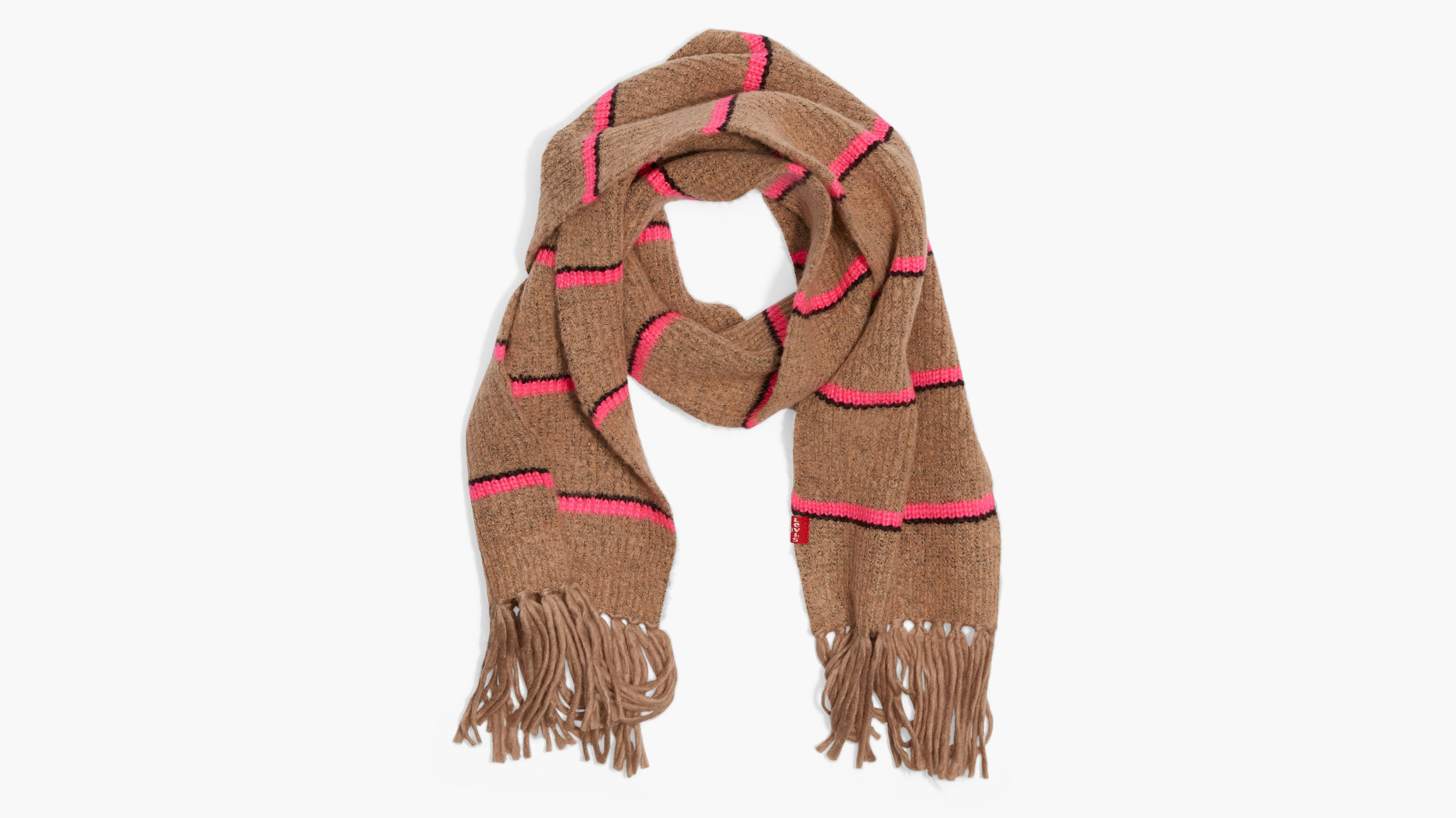 Levis Neon Striped Scarf