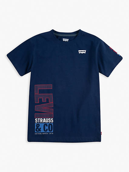 Little Boys 4-7x Vertical Levis Tee