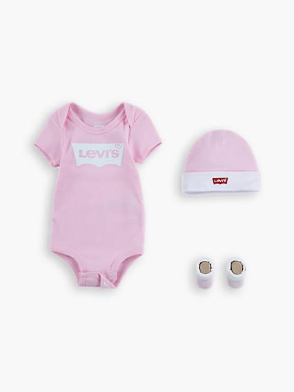 Baby 0-6M Levi's® Classic Logo Onesie Giftset