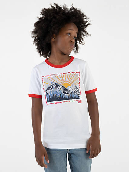 Big Boys (8-20) Graphic Ringer Tee Shirt