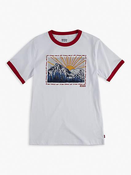 Little Boys (4-7) Graphic Ringer Tee Shirt