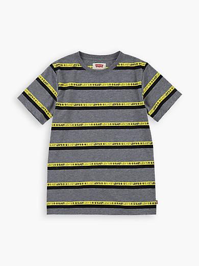Big Boys S-XL Striped Neon Graphic Tee Shirt