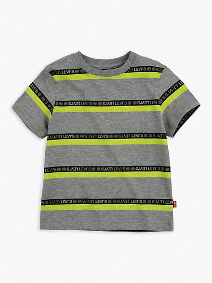 Toddler Boys 2T-4T Striped Neon Tee Shirt