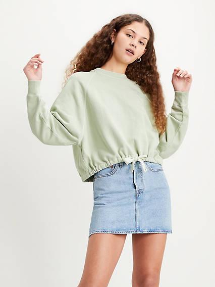 Cinched Crewneck Sweatshirt
