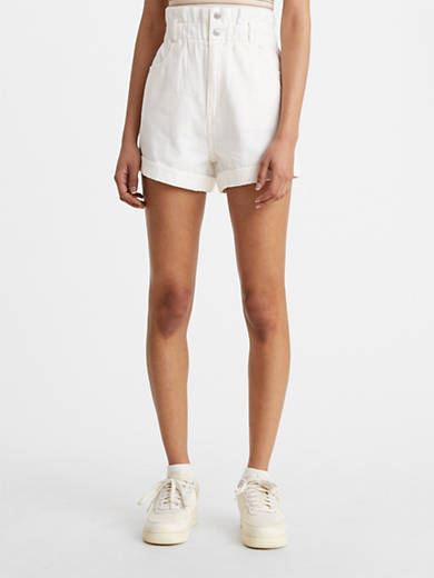 High-Waisted Paperbag Women's Shorts