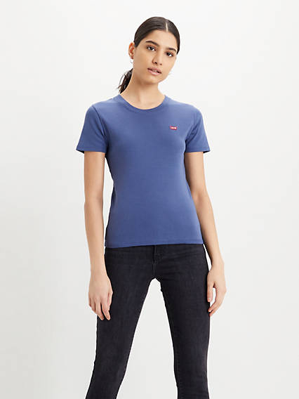 Short Sleeve Rib Baby Tee Shirt