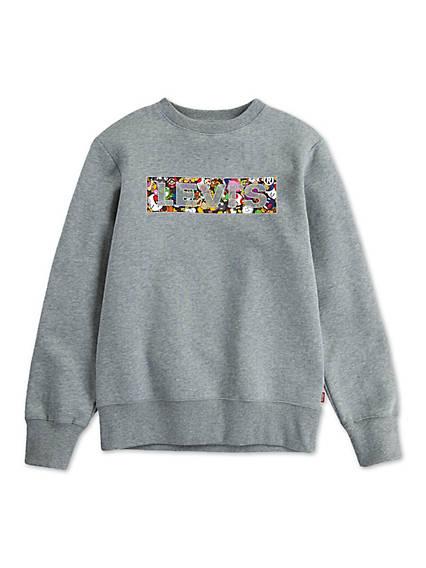 Big Boys S-XL Levi's® x Super Mario Power Up Crewneck Sweatshirt