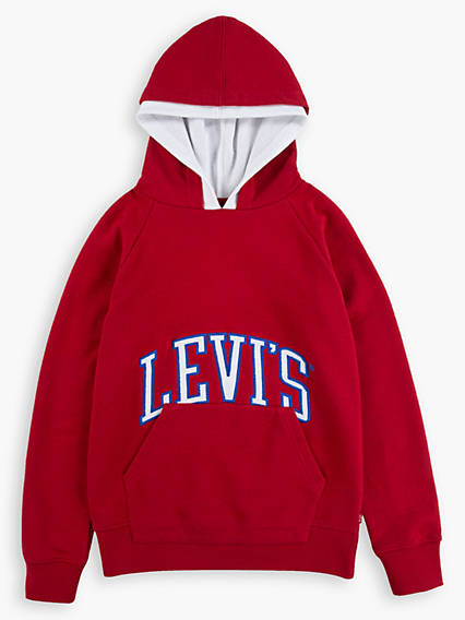 Little Boys 4-7x Varsity Logo Double Hood Hoodie