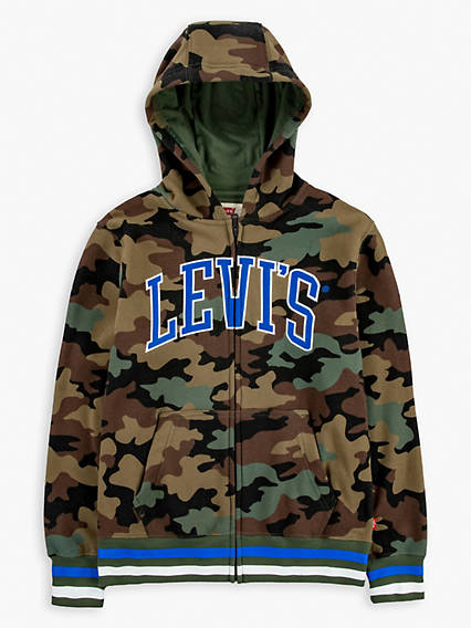 Big Boys (8-20) Camo Zip Up Hoodie
