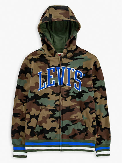 Little Boys (4-7) Camo Zip Up Hoodie