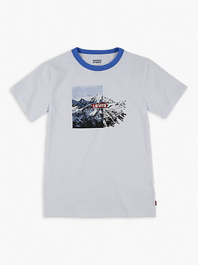 Big Boys S-XL Graphic Ringer Tee Shirt