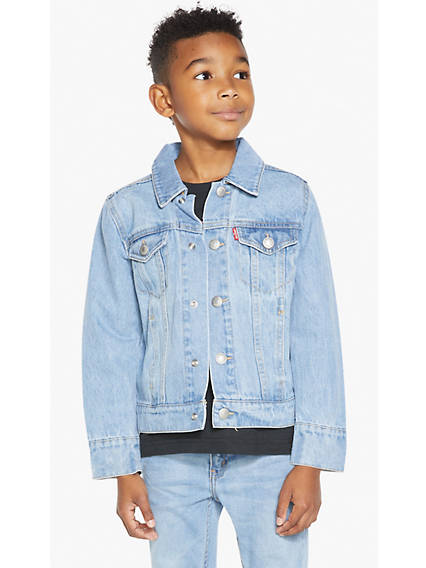 Little Boys (4-7) Denim Trucker Jacket