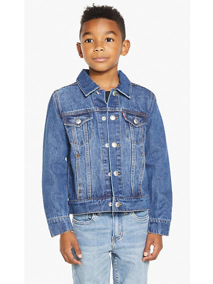 Little Boys 4-7 Denim Trucker Jacket