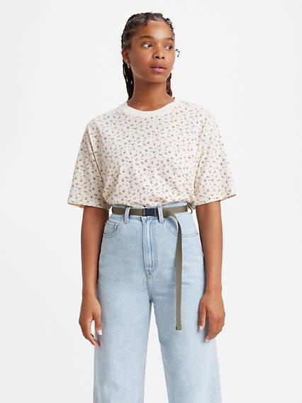T-shirt carré à manche courte