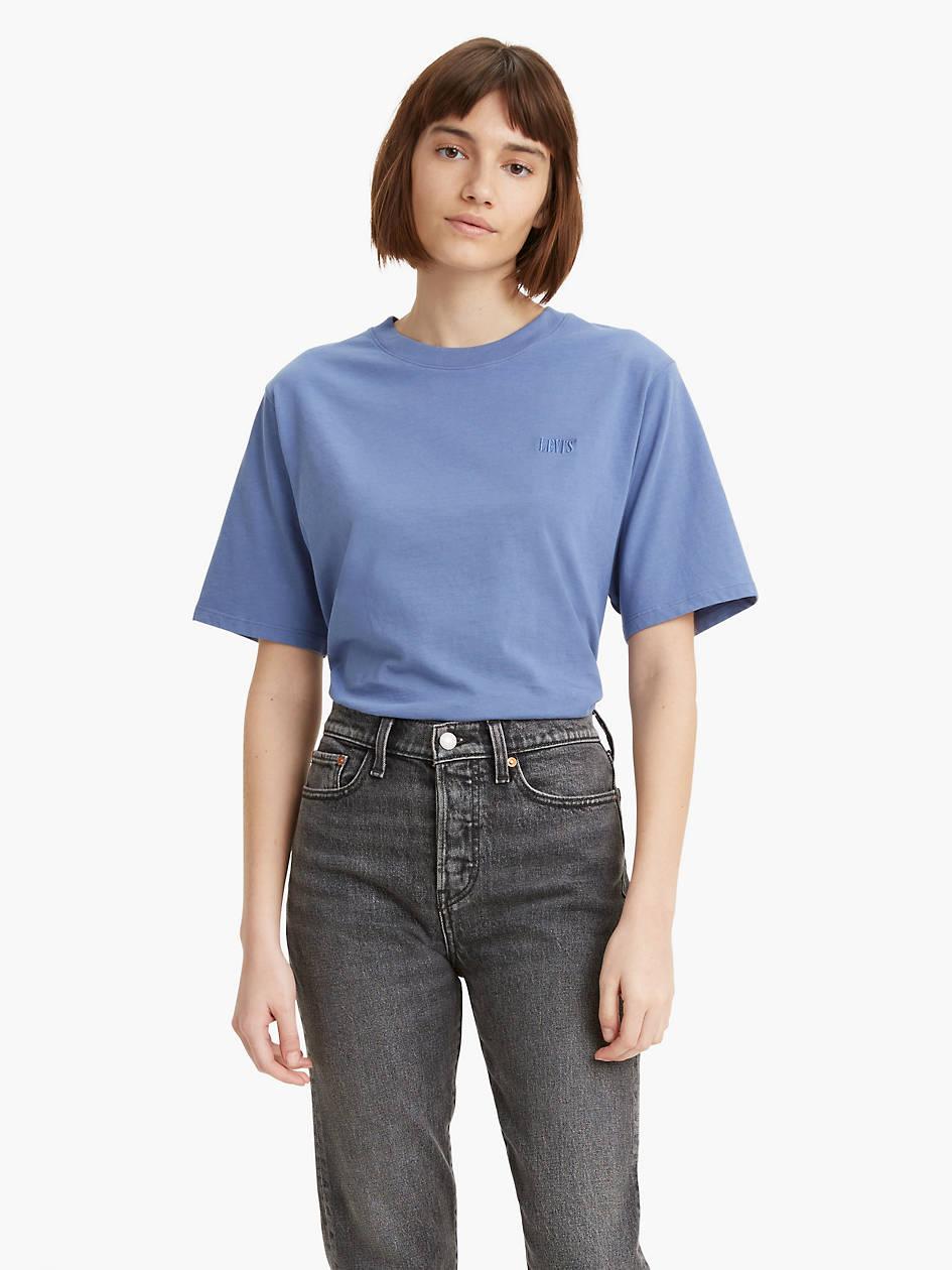 Short Sleeve Rib Baby Tee Shirt - Blue | Levi's® US