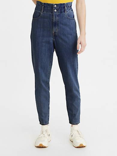 80's High Rise Paperbag Taper Pants
