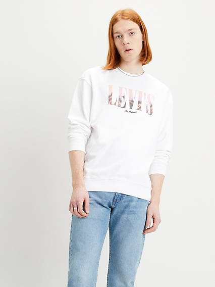 Relaxed Graphic Crew Sweatshirt