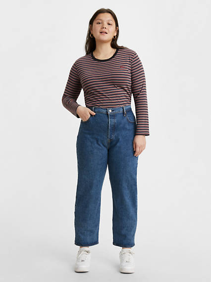 Ribcage Straight Ankle Jeans (Plus)