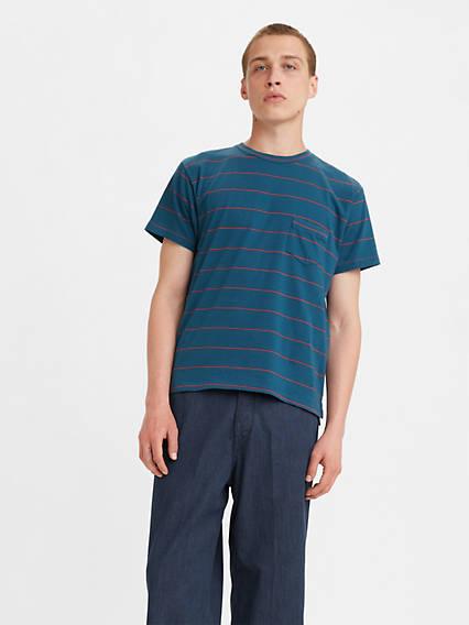 Mens Vintage Shirts – Casual, Dress, T-shirts, Polos Levis 1940s Split Hem T-Shirt - Mens XL $125.00 AT vintagedancer.com