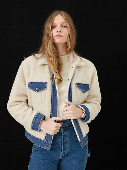Ex-Boyfriend Sherpa Pieced Trucker Jacket