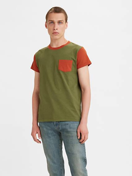 Men's Vintage Gym Clothes   Sweatshirts, Shorts, Tops, Shoes Styles Levis 1950s Sportswear T-Shirt - Mens S $95.00 AT vintagedancer.com