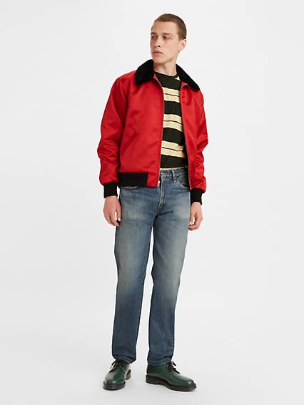 1950s Men's Pants, Trousers, Shorts | Rockabilly Jeans, Greaser Styles Levis 1954 501 Original Fit Mens Vintage Jeans 30x34 $285.00 AT vintagedancer.com