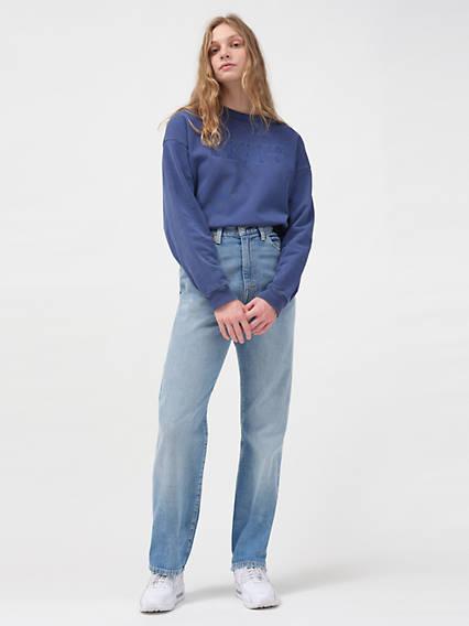 1950s Pants & Jeans- High Waist, Wide Leg, Capri, Pedal Pushers Levis 1950s 701 Womens Vintage Jeans 25 $99.97 AT vintagedancer.com