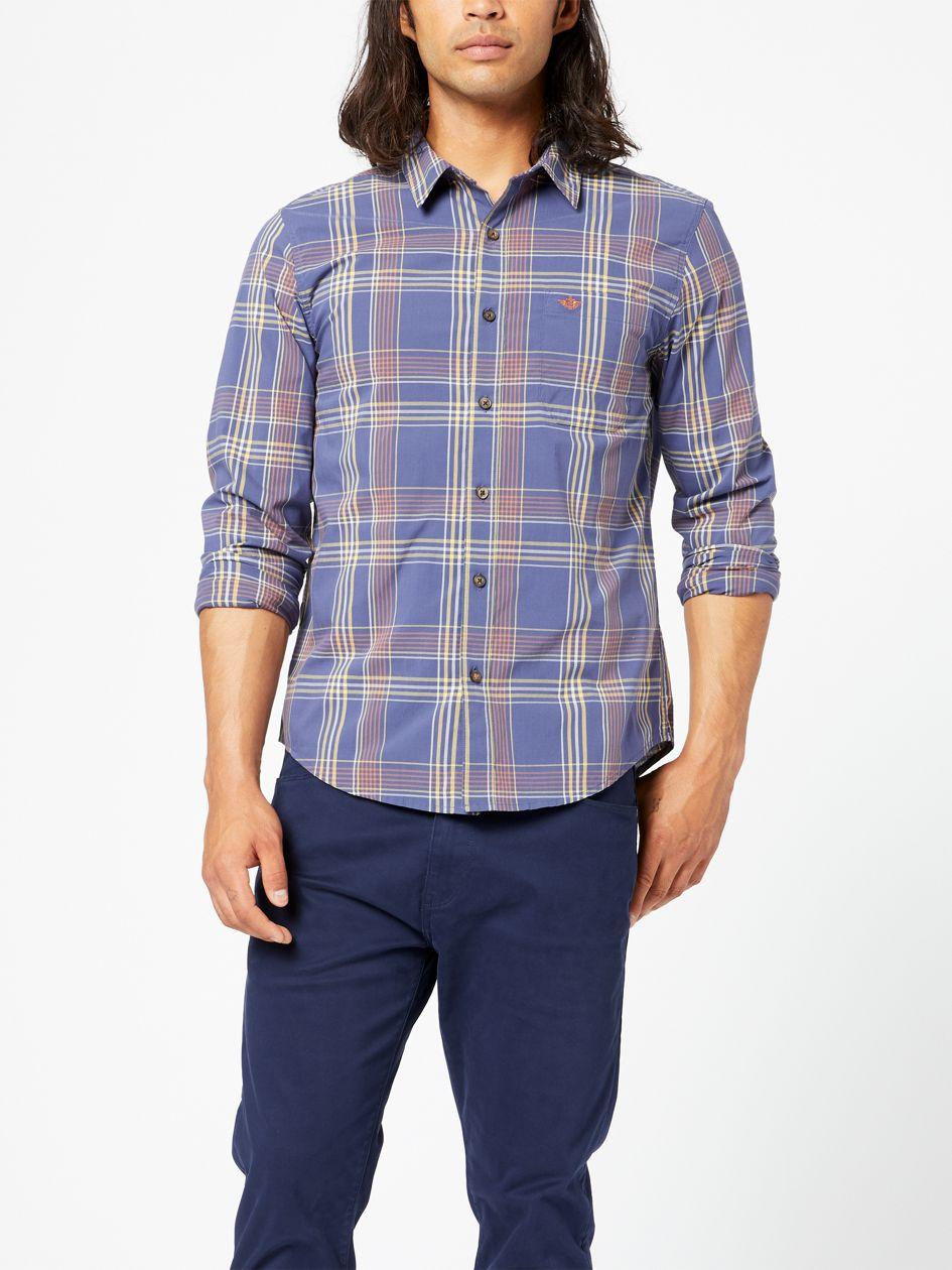 Washed Poplin Shirt, Regular Fit - Blue 526690244 | Dockers® US