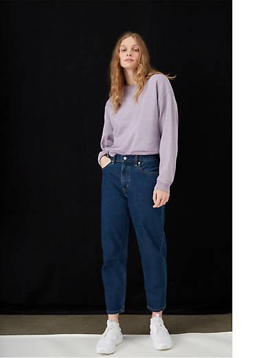 Loose Taper Crop Women's Jeans