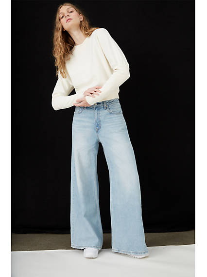 80s Jeans, Pants, Leggings Levis Loose Ultra Wide Leg Womens Jeans 28 $98.00 AT vintagedancer.com