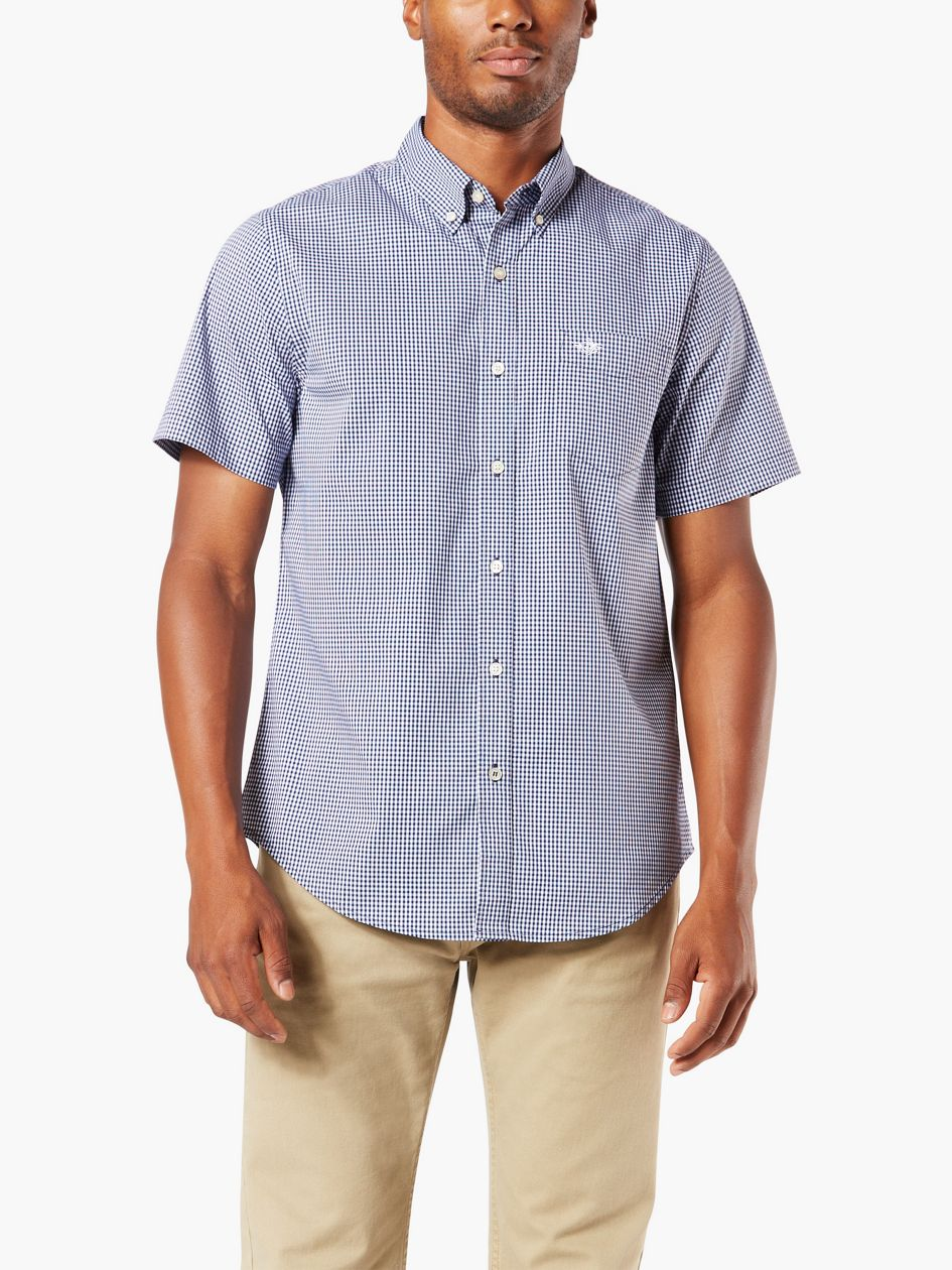 Signature Comfort Flex Shirt, Classic Fit - Blue 547080012 | Dockers® US