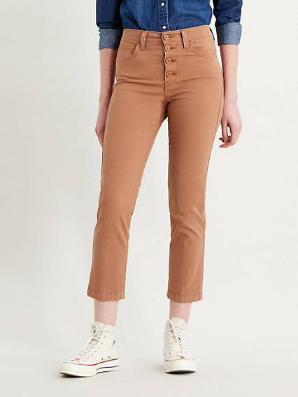 724 High Rise Straight Cropped Utility Pants