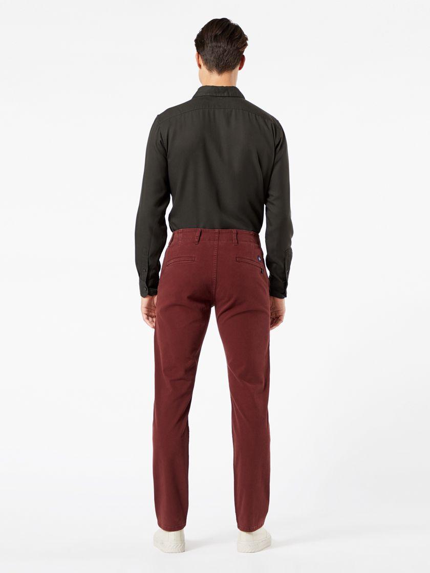 Alpha Chinos, Skinny Fit - Burgundy 557750030 | Dockers® US
