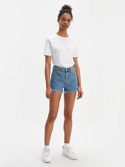 Vintage Shorts, Culottes,  Capris History Levis 501 High Rise Shorts - Womens 30 $98.00 AT vintagedancer.com
