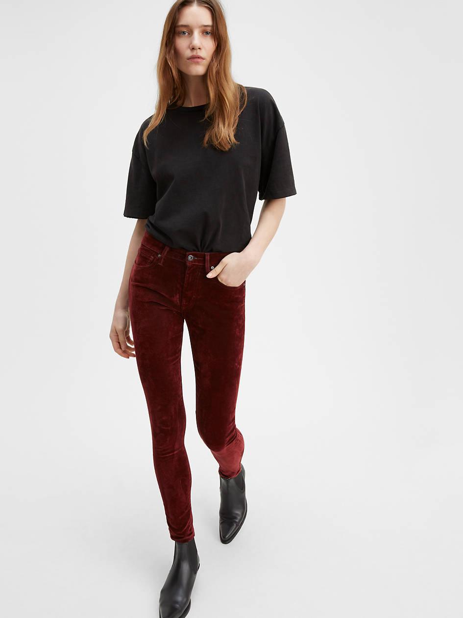 721 High Rise Velvet Pants - Red | Levi's® US
