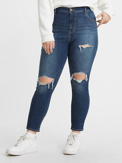 720 High Rise Super Skinny Women's Jeans (Plus Size)