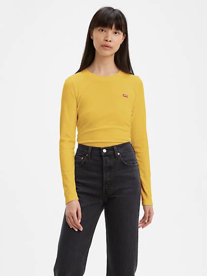 Long Sleeve Baby Tee Shirt