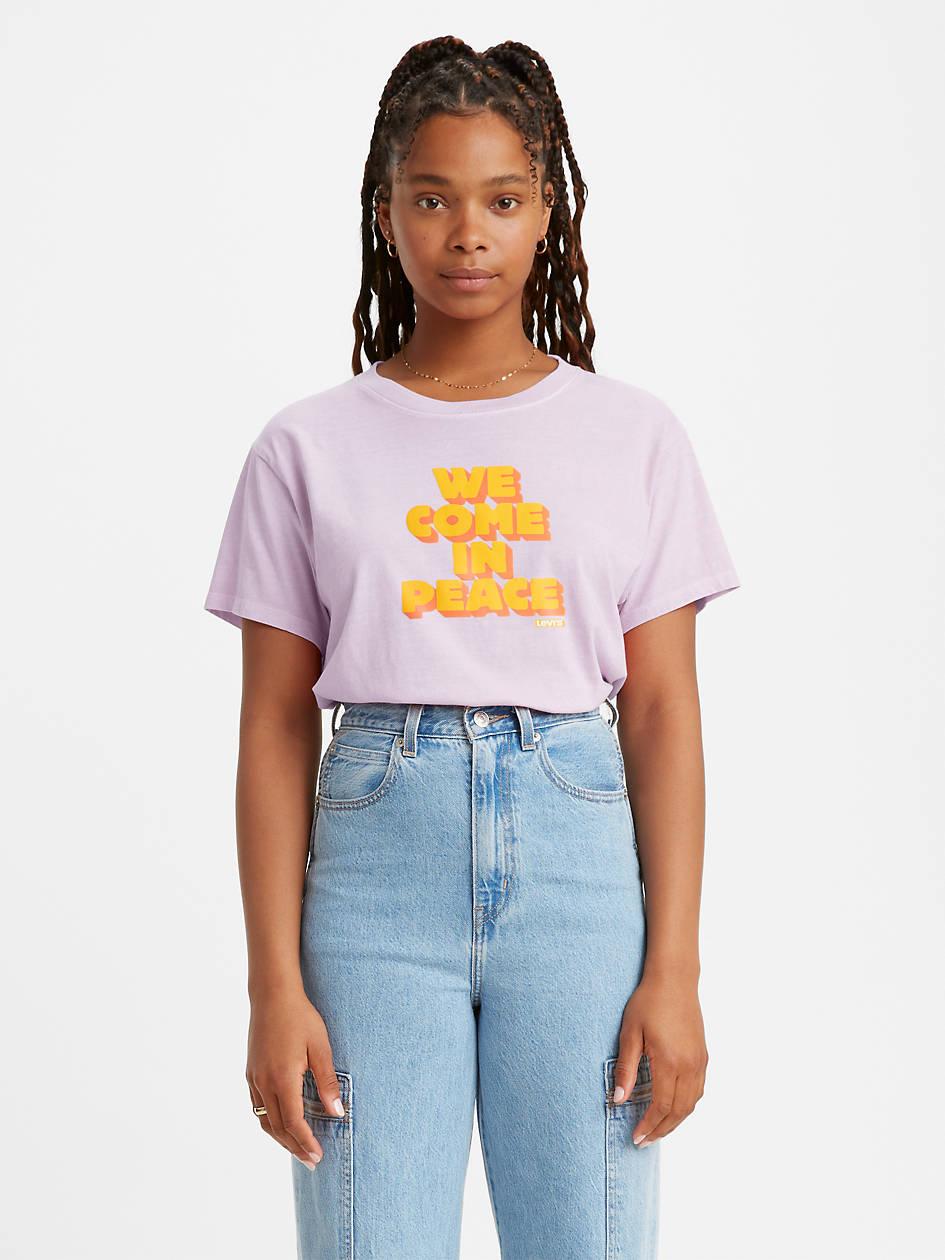 Graphic Varsity Tee Shirt - Blue | Levi's® US