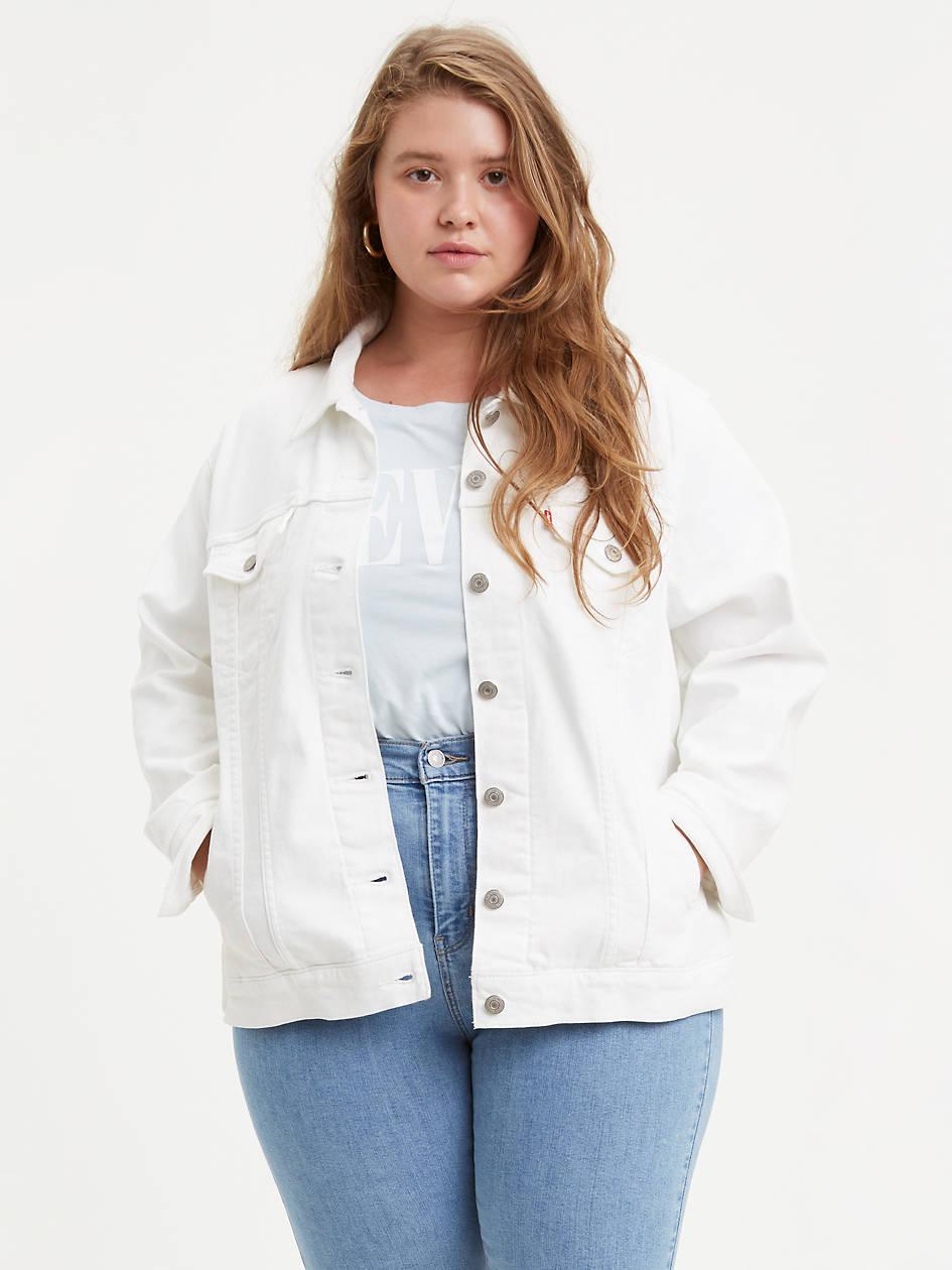 Ex-boyfriend Trucker Jacket (plus Size) - White | Levi's® US