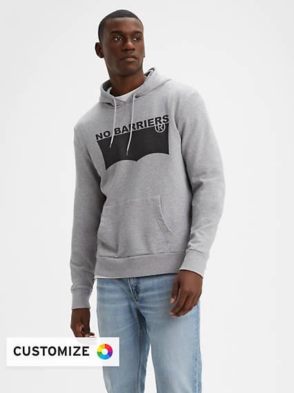 Men's Blank Fleece Hoodie