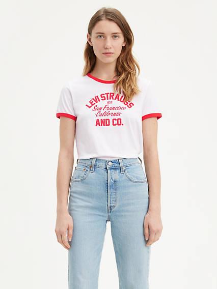 Graphic Ringer Surf Tee Shirt